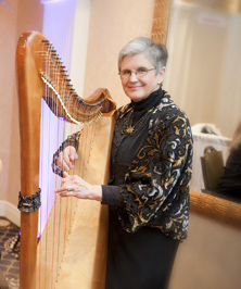 Cass with harp